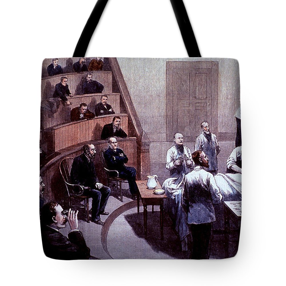 Science Tote Bag featuring the photograph Operating Amphitheater, Administering by Science Source