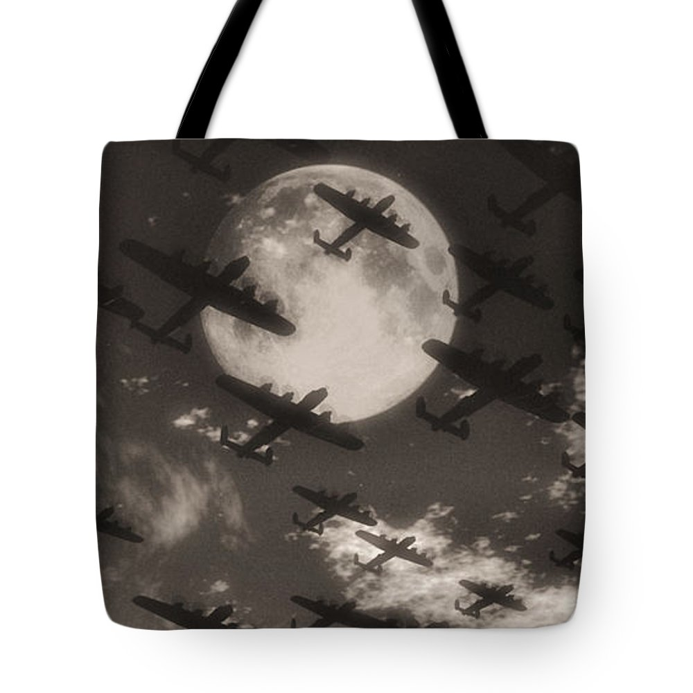 Aviaton Tote Bag featuring the digital art Operation Moonlight by Richard Rizzo