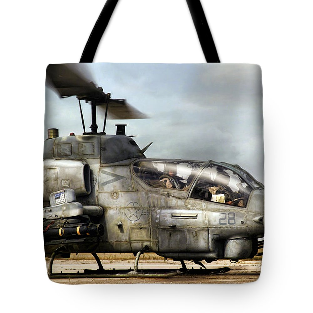 Aviation Tote Bag featuring the digital art Ophidiophobia by Peter Chilelli