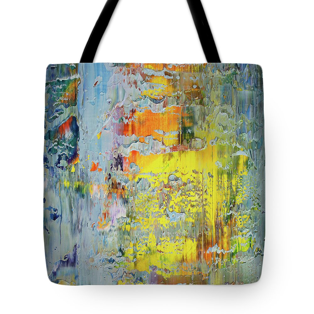 Derek Kaplan Art Tote Bag featuring the painting Opt.66.16 A New Day by Derek Kaplan