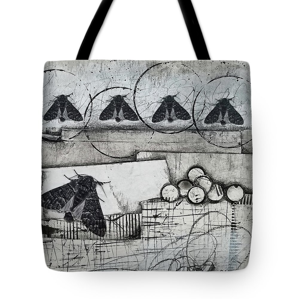 Collage Tote Bag featuring the mixed media Optimistic by Laura Lein-Svencner
