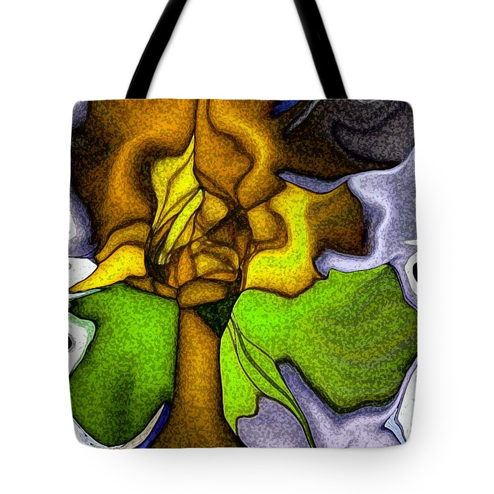Art Tote Bag featuring the digital art Wild Orchid by Alex DONOTE