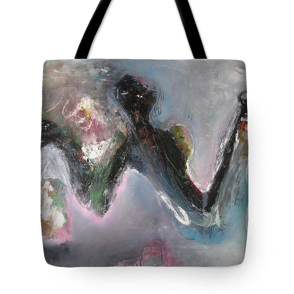 People Paintings Tote Bag featuring the painting Or Diginity by Seon-Jeong Kim