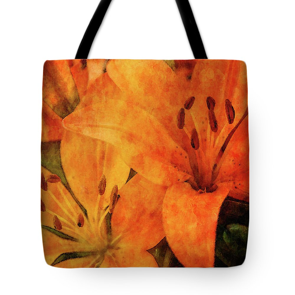 Impression Tote Bag featuring the photograph Orange Cluster 9225 Idp_2 by Steven Ward