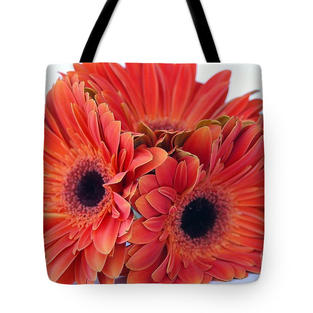 Daisy Tote Bag featuring the photograph Orange Crush by DiEtte Henderson