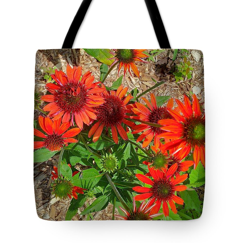 Flower Tote Bag featuring the photograph Orange Days by Jennie Perry
