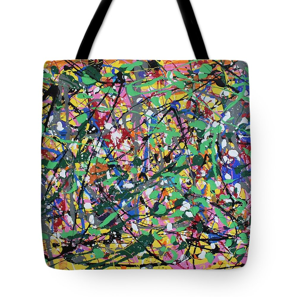 Colorful Tote Bag featuring the painting Orange Delight by Pam Roth O'Mara