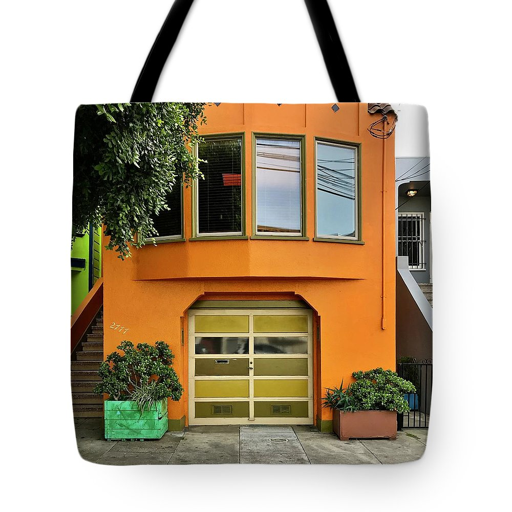 Tote Bag featuring the photograph Orange House by Julie Gebhardt
