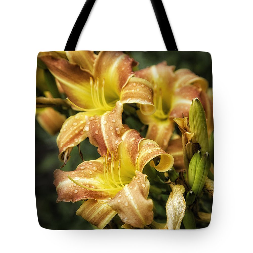 Lily Tote Bag featuring the photograph Orange Lilies Portrait by Timothy Hacker