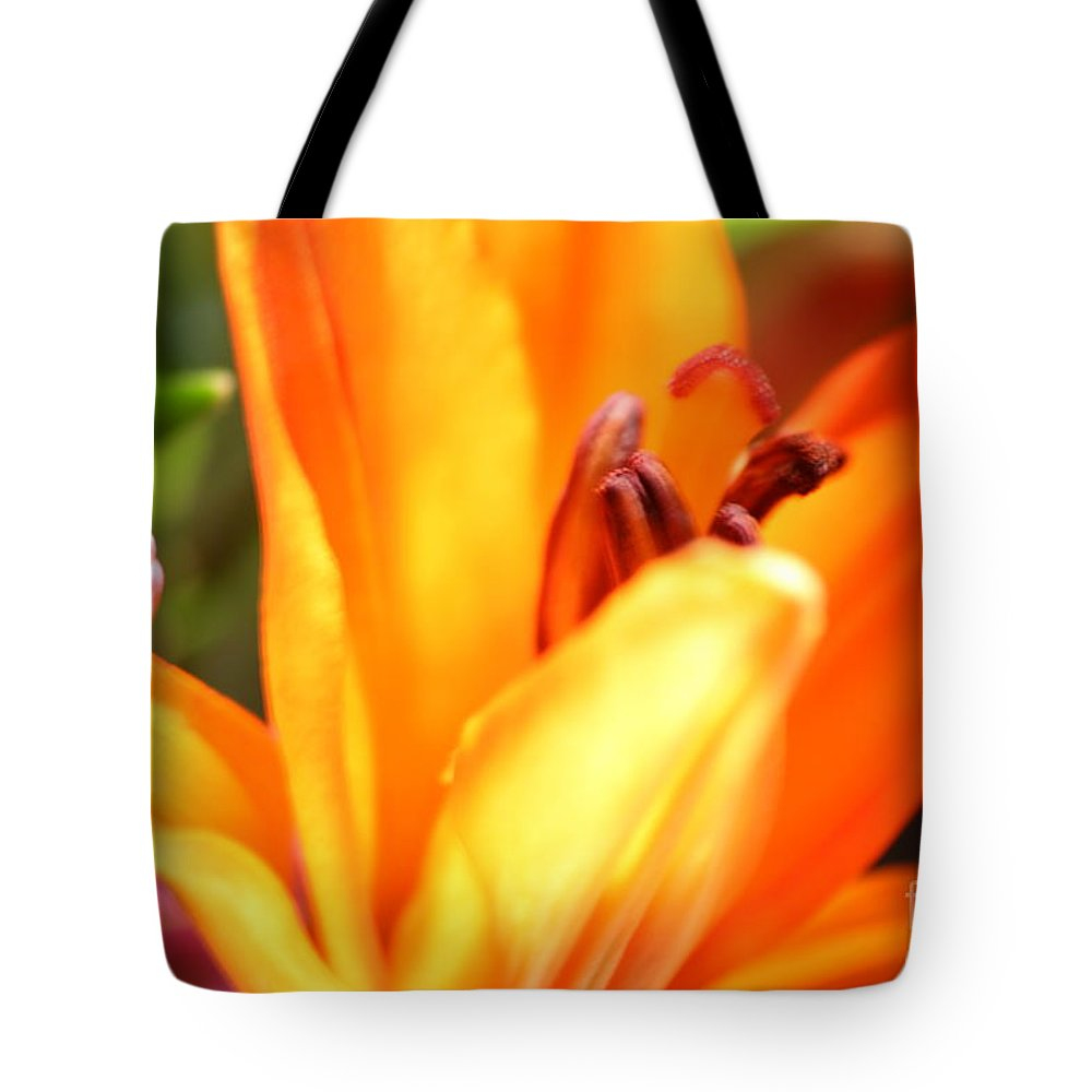 Lily Tote Bag featuring the photograph Orange Lily by Cynthia Derosier