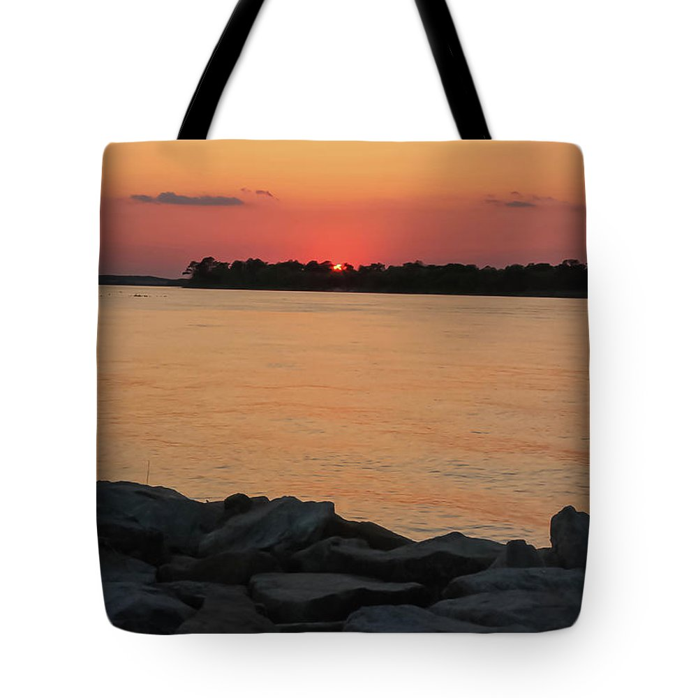 Delaware Tote Bag featuring the photograph Orange Nite Sky by Amy Bishop