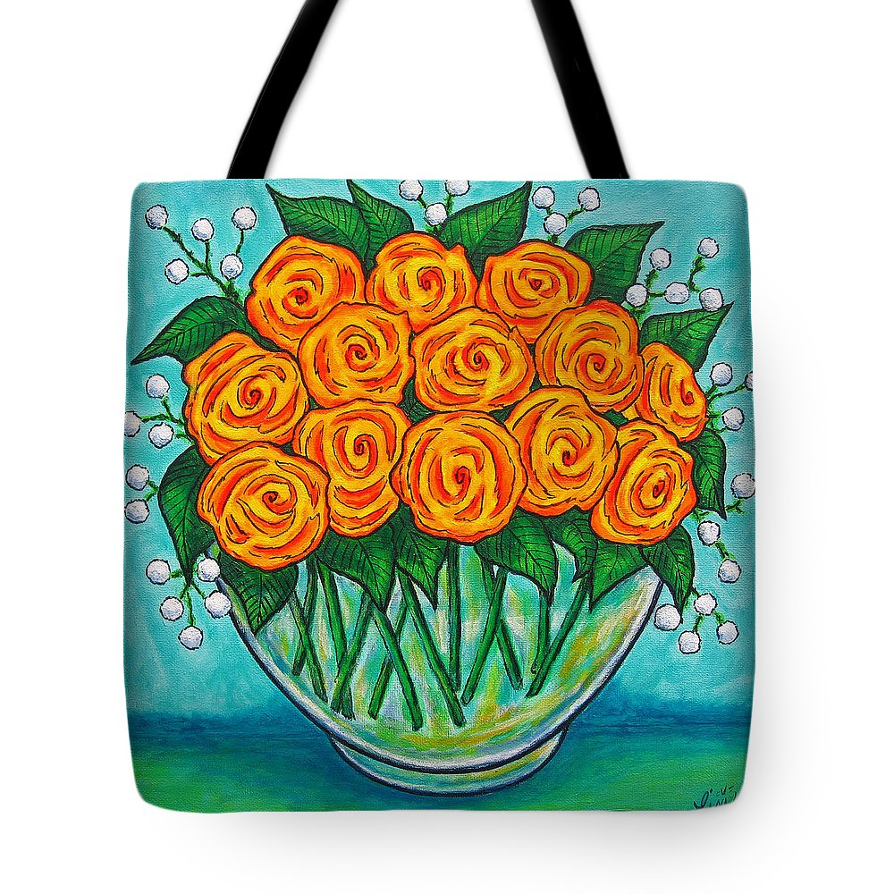 Orange Tote Bag featuring the painting Orange Passion by Lisa Lorenz