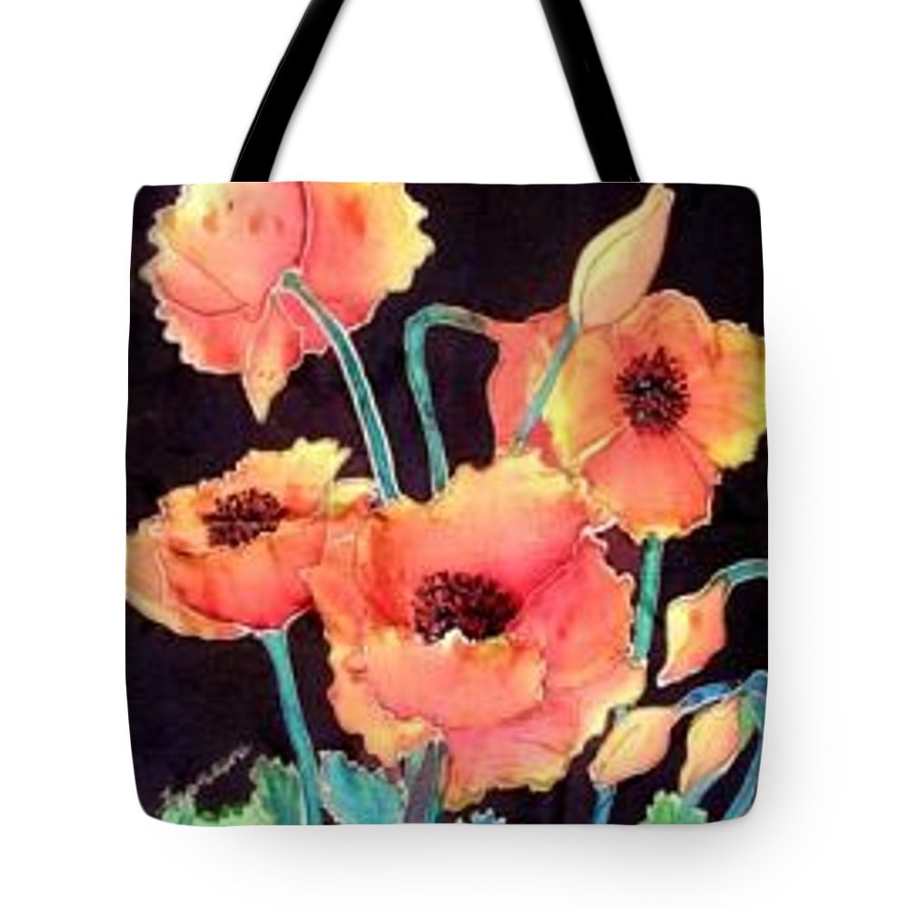 Poppies Tote Bag featuring the painting Orange Poppies by Francine Dufour Jones