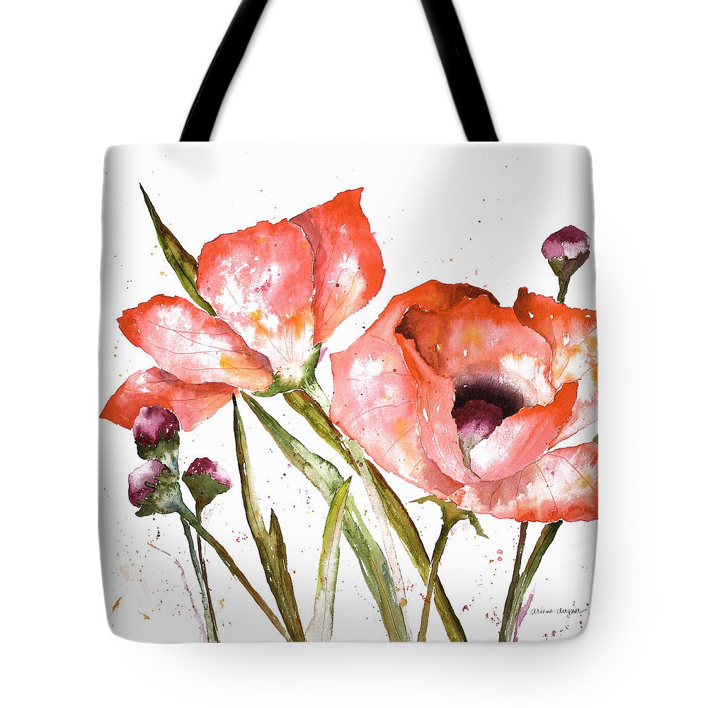 Poppy Tote Bag featuring the painting Orange Poppies by Arline Wagner