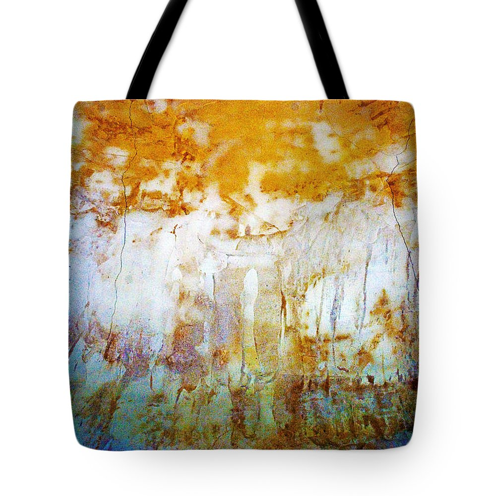 Abstract Tote Bag featuring the photograph Orange Rim by Carl Ellis