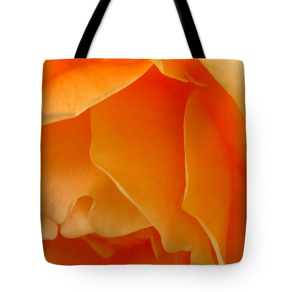 Tote Bag featuring the photograph Orange Rose Side View by Miss McLean