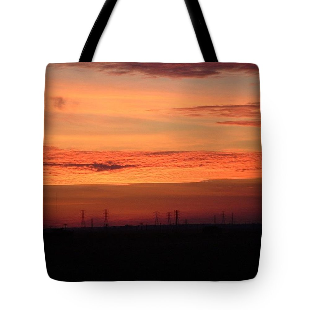 Sunset Tote Bag featuring the photograph Orange Sunset by Lorna Hooper