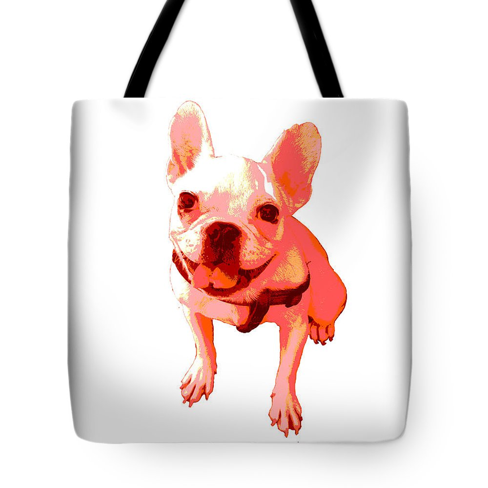 Tote Bag featuring the painting Orange Terrier by Linda Swon