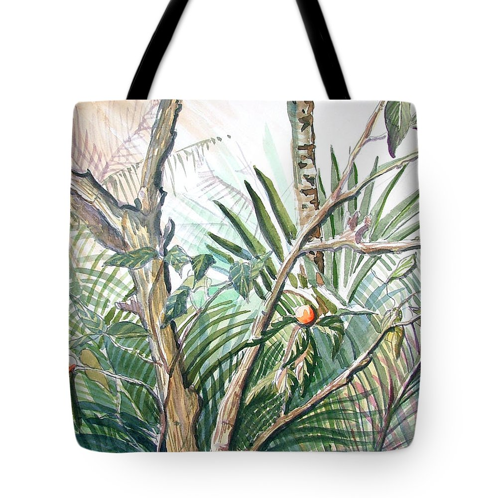 Fruit Tote Bag featuring the painting Orange Tree by Mindy Newman