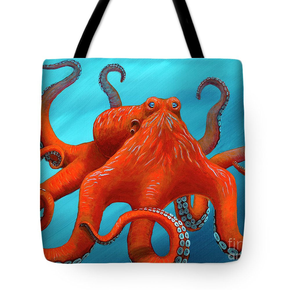 Rebecca Tote Bag featuring the painting Orange-u-gr-8 by Rebecca Parker