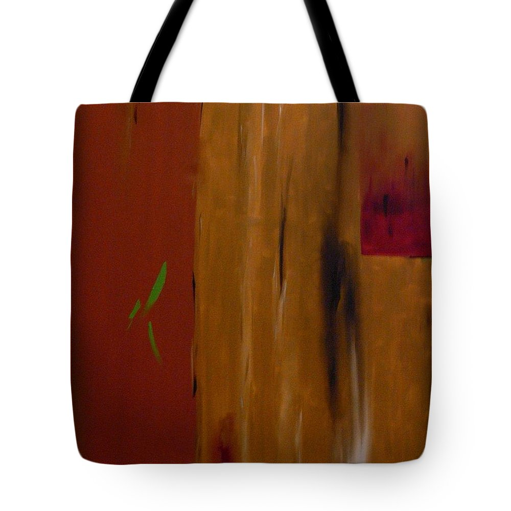 Abtract Tote Bag featuring the painting Orange With A Hint Of Lime by Serina Wells