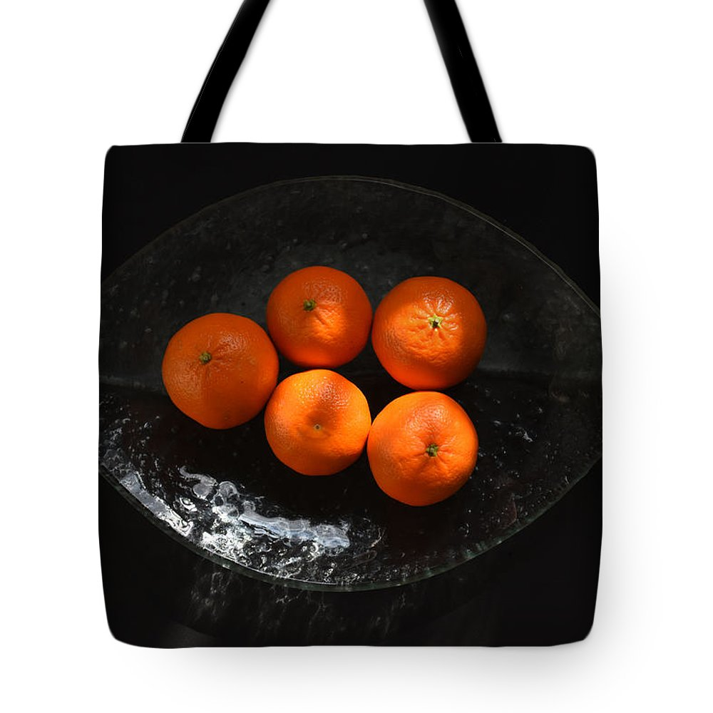 Oranges Tote Bag featuring the photograph Oranges In Sunlight by Ludmila SHUMILOVA