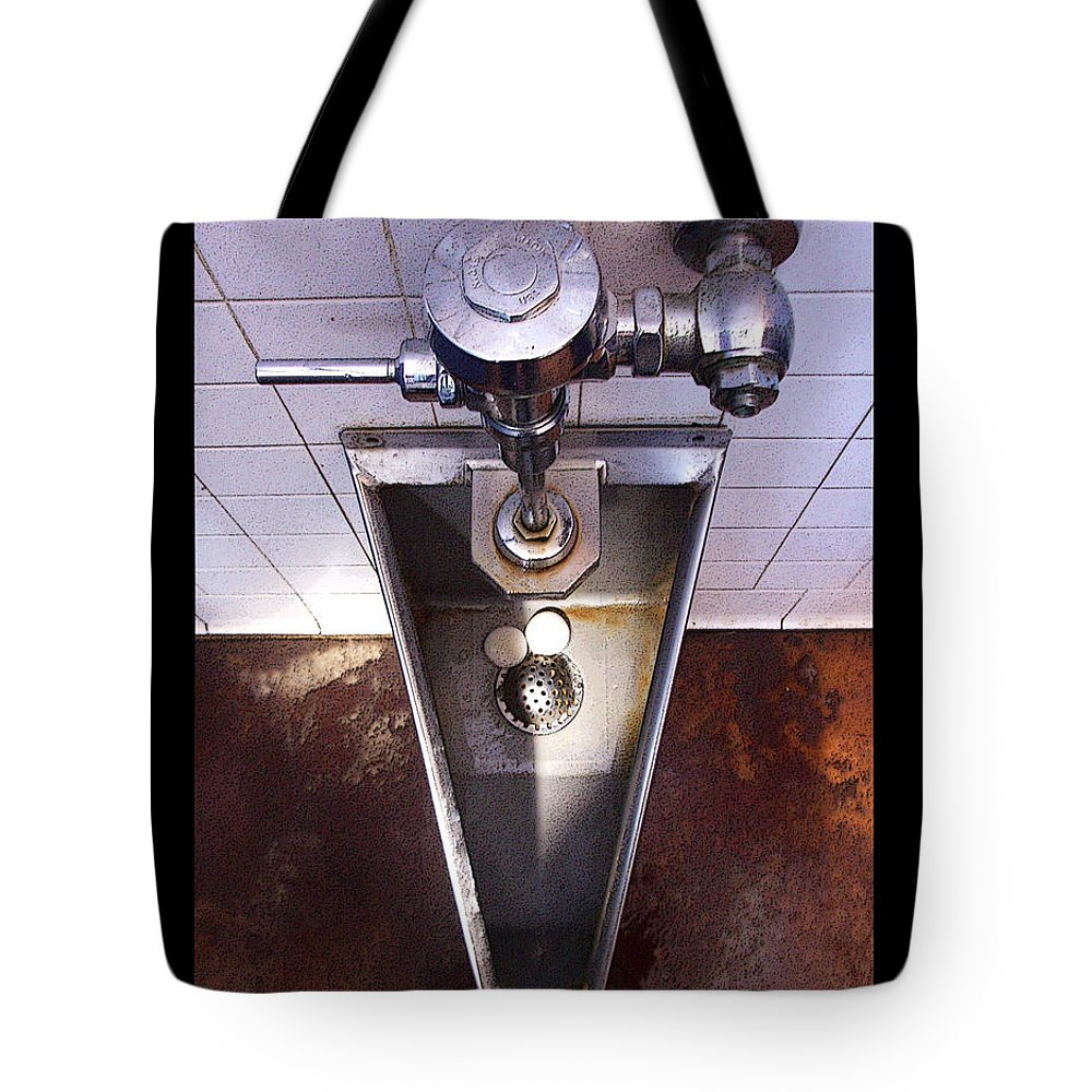 Urinal Tote Bag featuring the photograph Orcas Island Urinal by Tim Nyberg