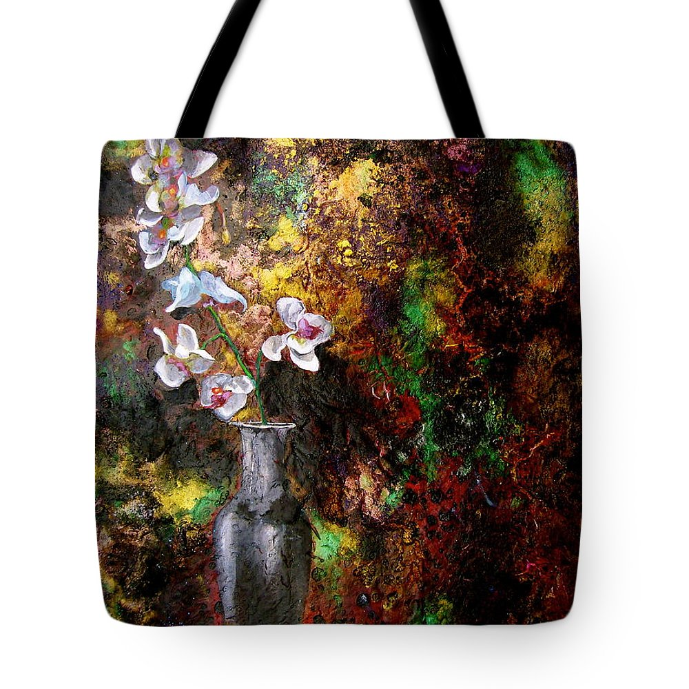 Orchid Art Beautiful Art Tote Bag featuring the painting Orchid 1 by Laura Pierre-Louis