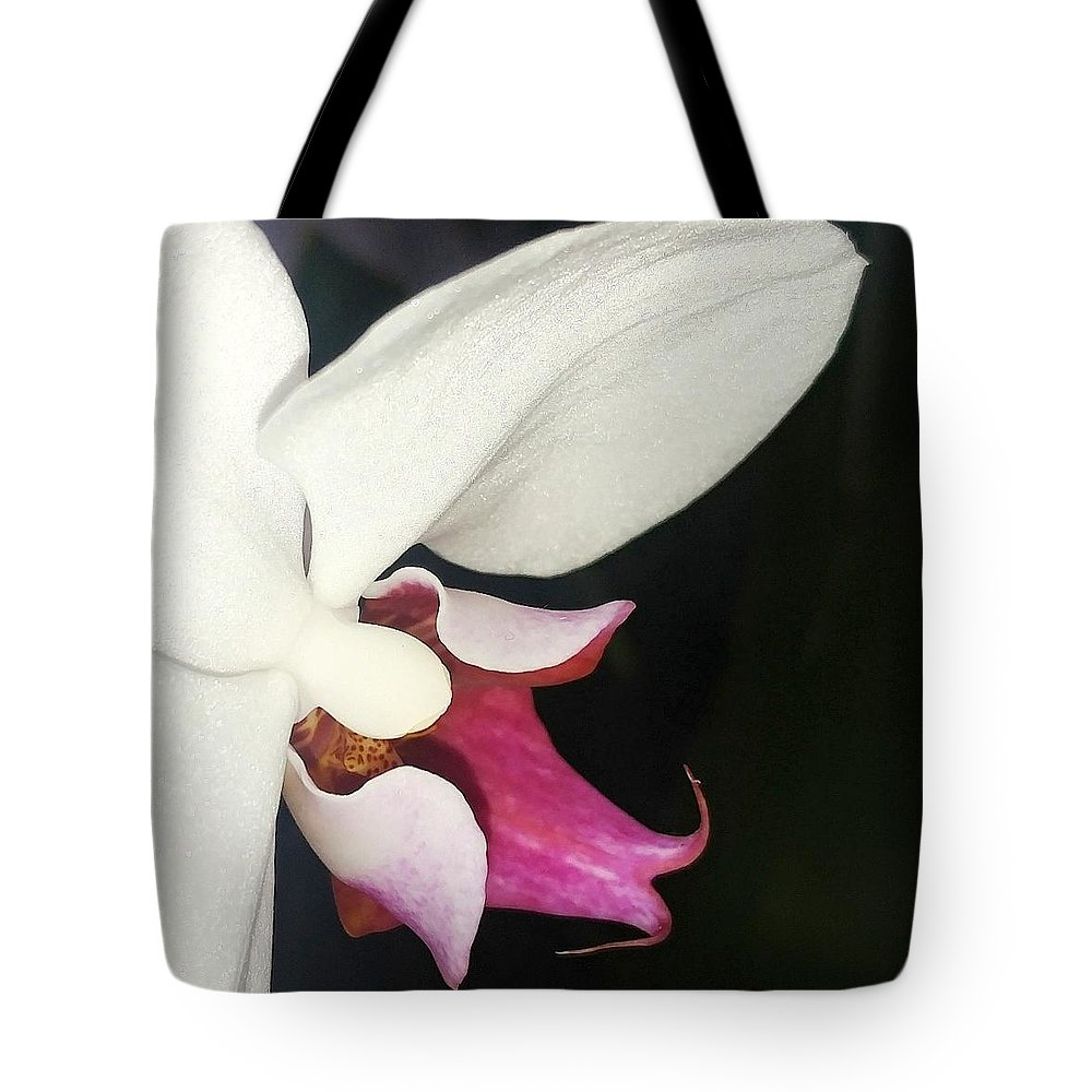 Flower Tote Bag featuring the photograph Orchid-2 by Elisa Franzetta