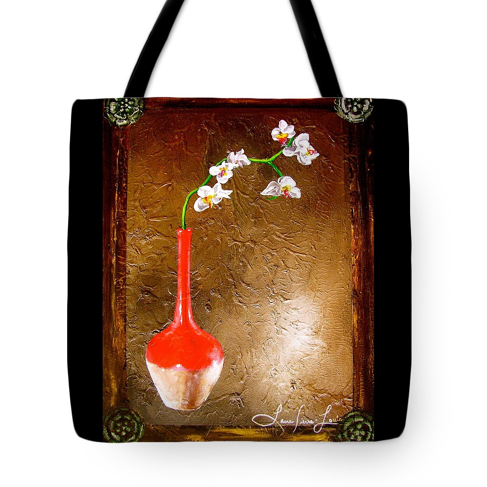 Orchid Art Beautiful Art Tote Bag featuring the painting Orchid 3 by Laura Pierre-Louis