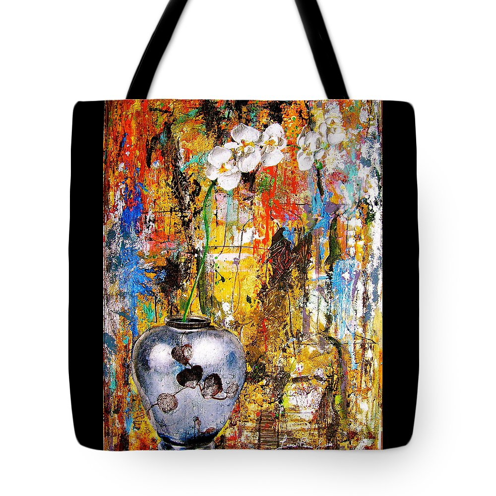 Orchid Art Beautiful Art Tote Bag featuring the painting Orchid 5 by Laura Pierre-Louis