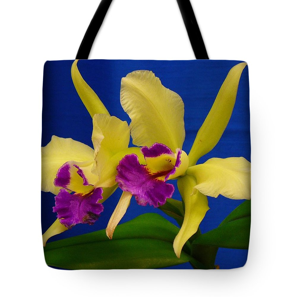 Orchids Tote Bag featuring the photograph Orchid 7 by Peggy King