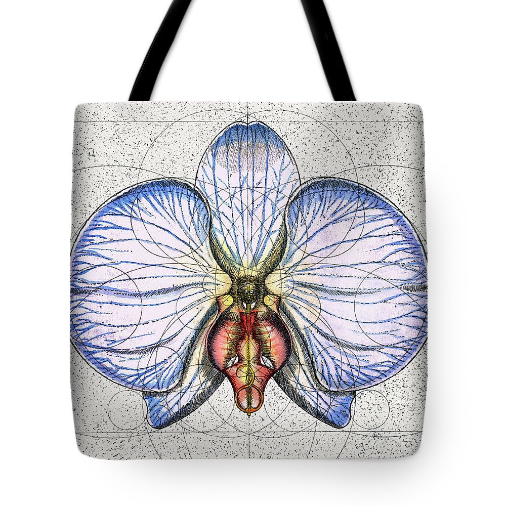 Orchid Tote Bag featuring the painting Orchid by Charles Harden