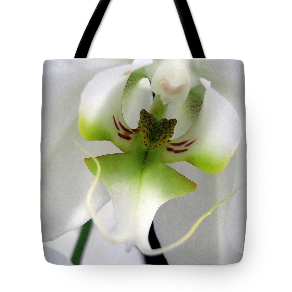 Tote Bag featuring the photograph Orchid Dance by Cheryl Ehlers