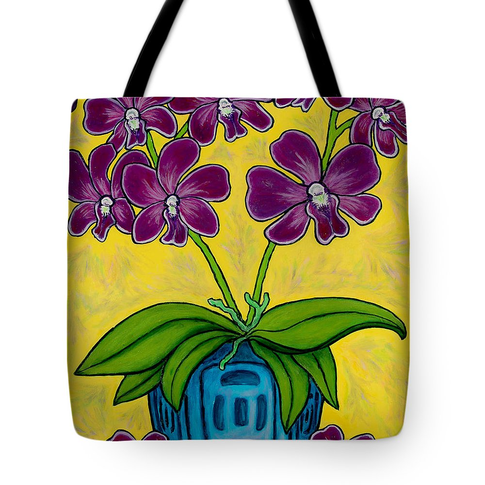 Orchids Tote Bag featuring the painting Orchid Delight by Lisa Lorenz