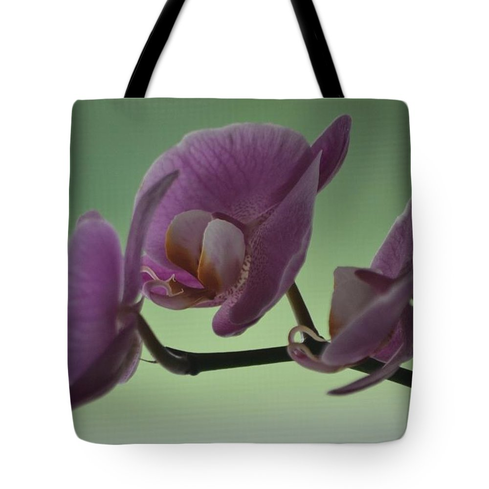 Flowers Tote Bag featuring the digital art Orchid by Laurie Glowacki