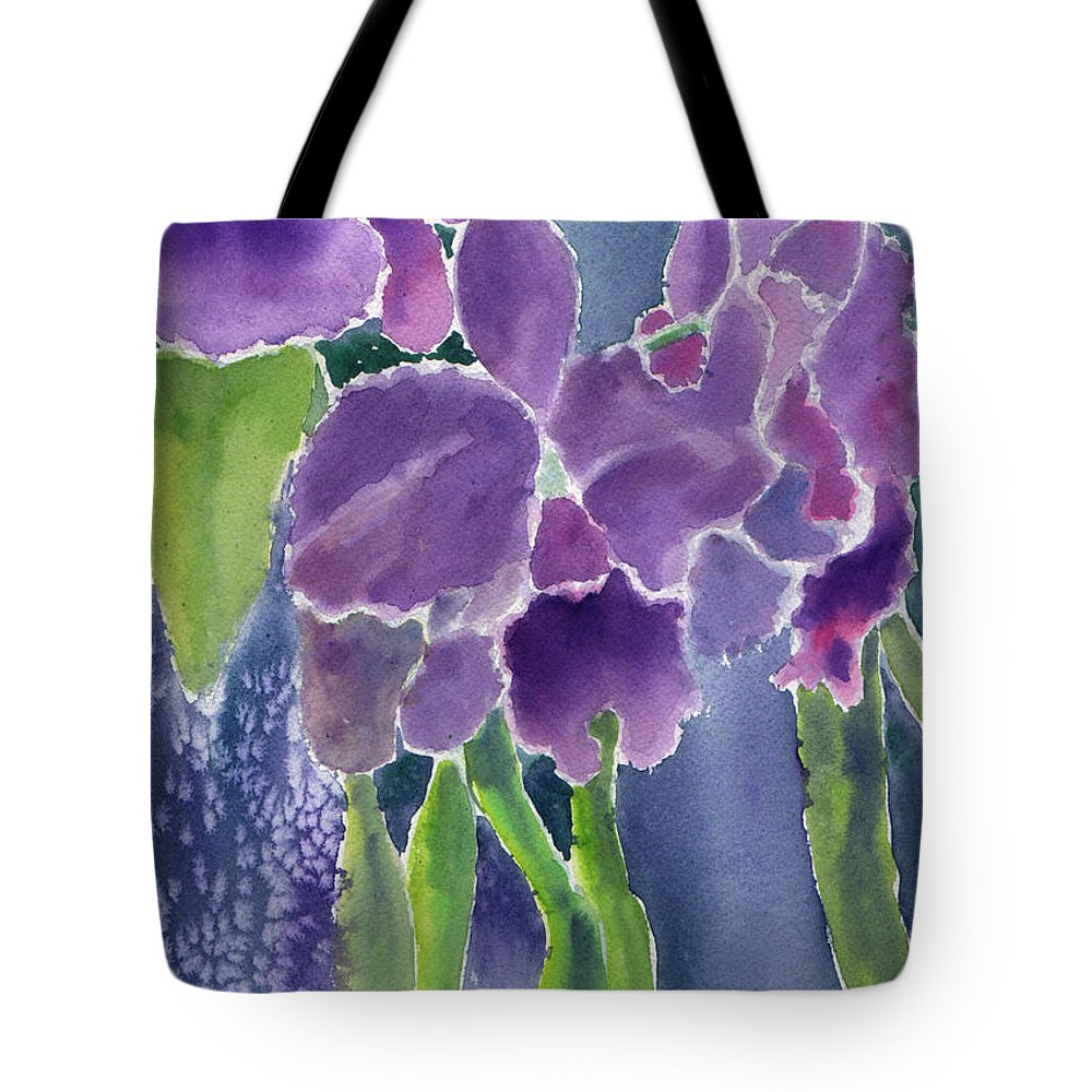 Orchids Tote Bag featuring the painting Orchid Rain by Marsha Elliott