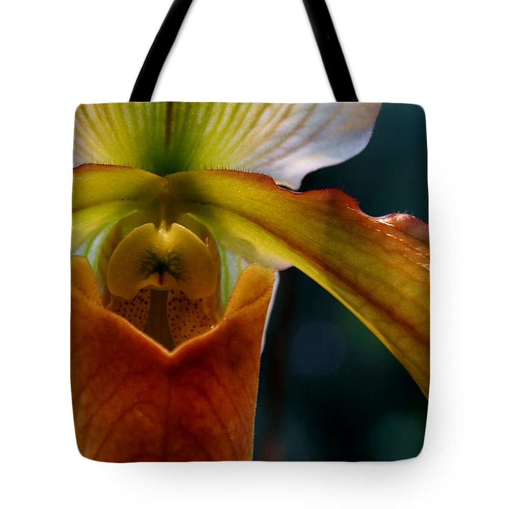 Slipper Orchid Tote Bag featuring the photograph Orchid Slipper by Joanne Smoley
