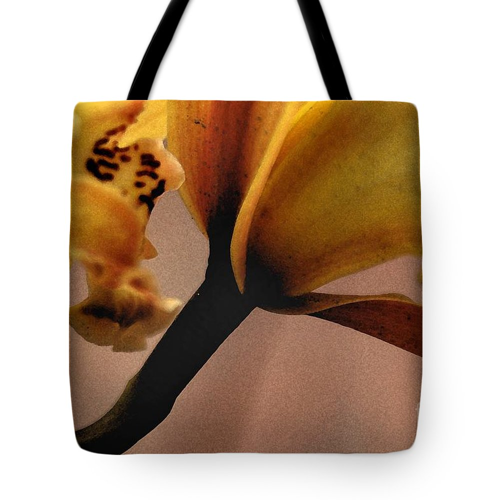 Orchid Tote Bag featuring the photograph Orchid Yellow by Michael Ziegler