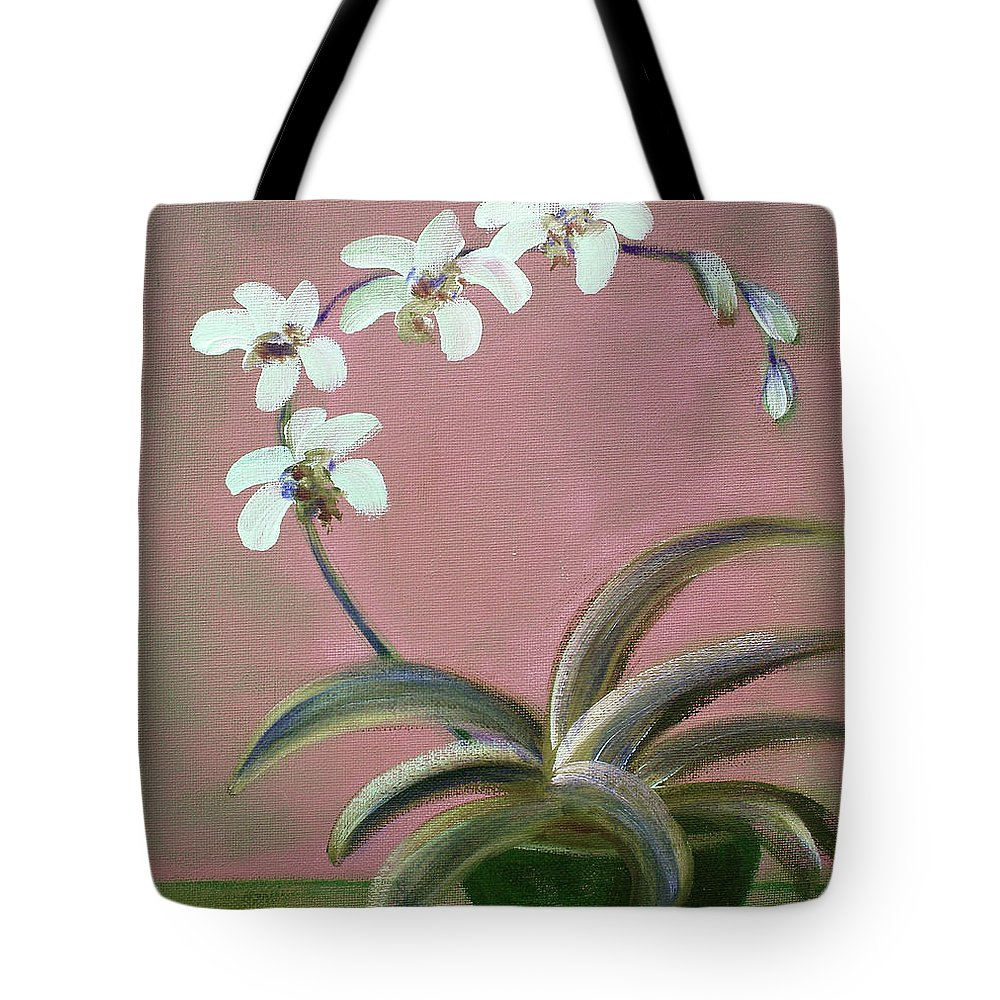 Original Tote Bag featuring the painting Orchids 2 by Gina De Gorna