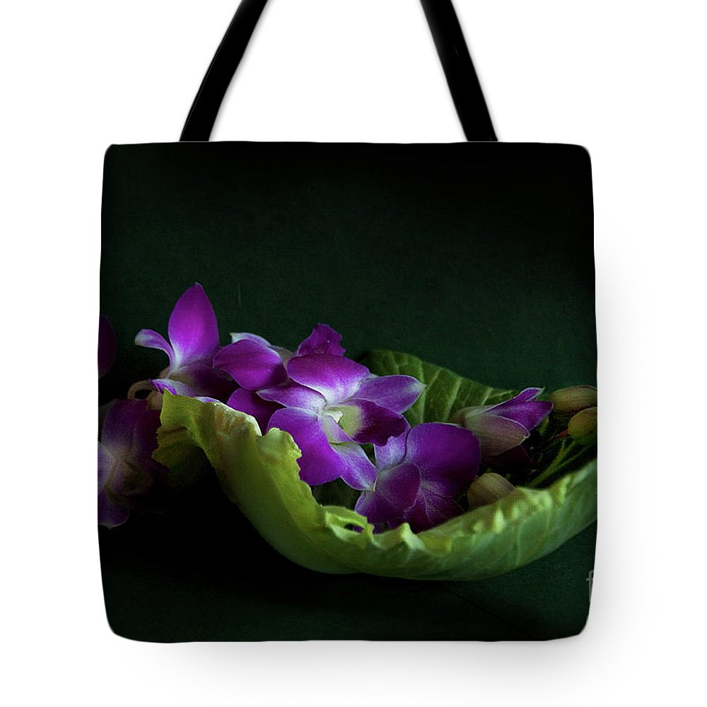 Flower Tote Bag featuring the photograph Orchids by Eena Bo