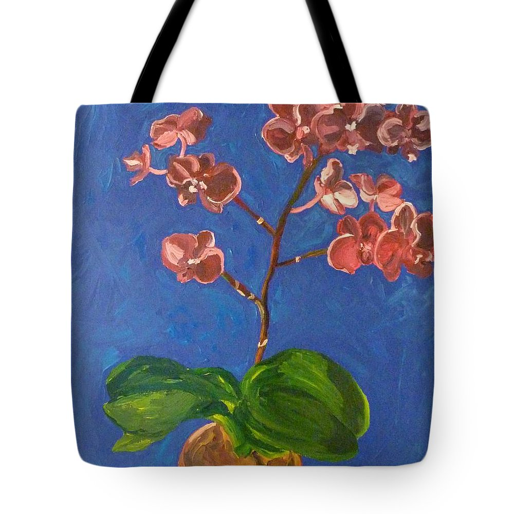 Flowers Tote Bag featuring the painting Orchids by Joshua Redman