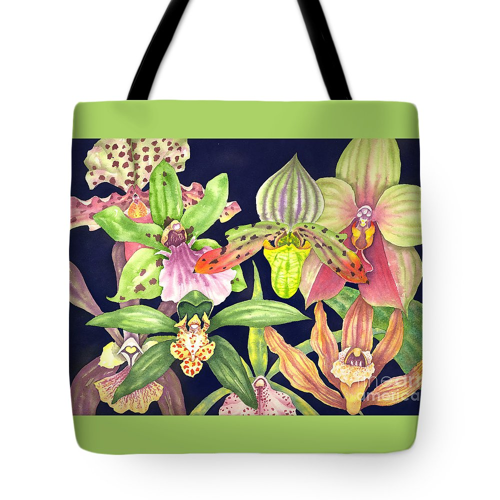 Orchids Tote Bag featuring the painting Orchids by Lucy Arnold