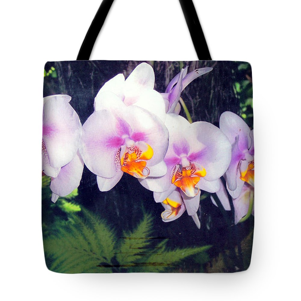 Orchids Tote Bag featuring the photograph Orchids Of Hawaii by Dina Holland