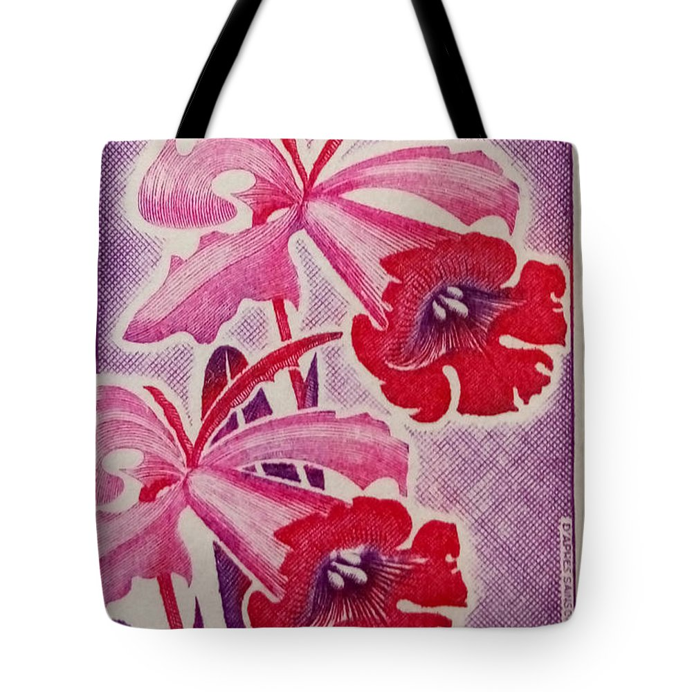 Flowers Tote Bag featuring the photograph Orchids Of Orleans France 1967 by David Call