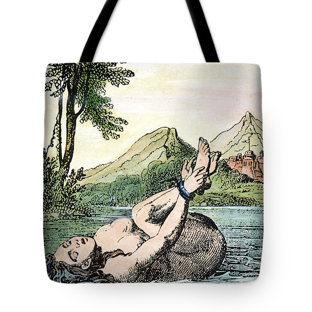 Bound Tote Bag featuring the photograph Ordeal By Water by Granger