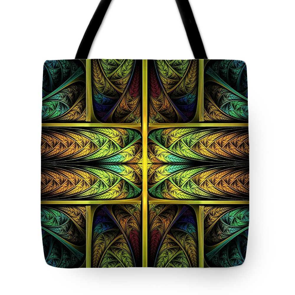 Apophysis Tote Bag featuring the digital art Order Out Of Chaos by Lyle Hatch