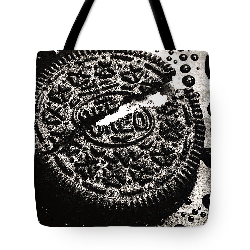 Cookie Tote Bag featuring the photograph Oreo Cookie by Nancy Mueller