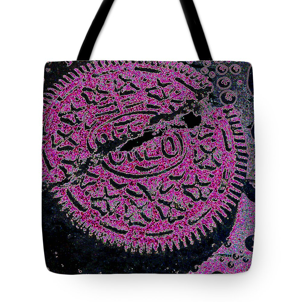 Pink Tote Bag featuring the photograph Oreo In Pink by Nancy Mueller