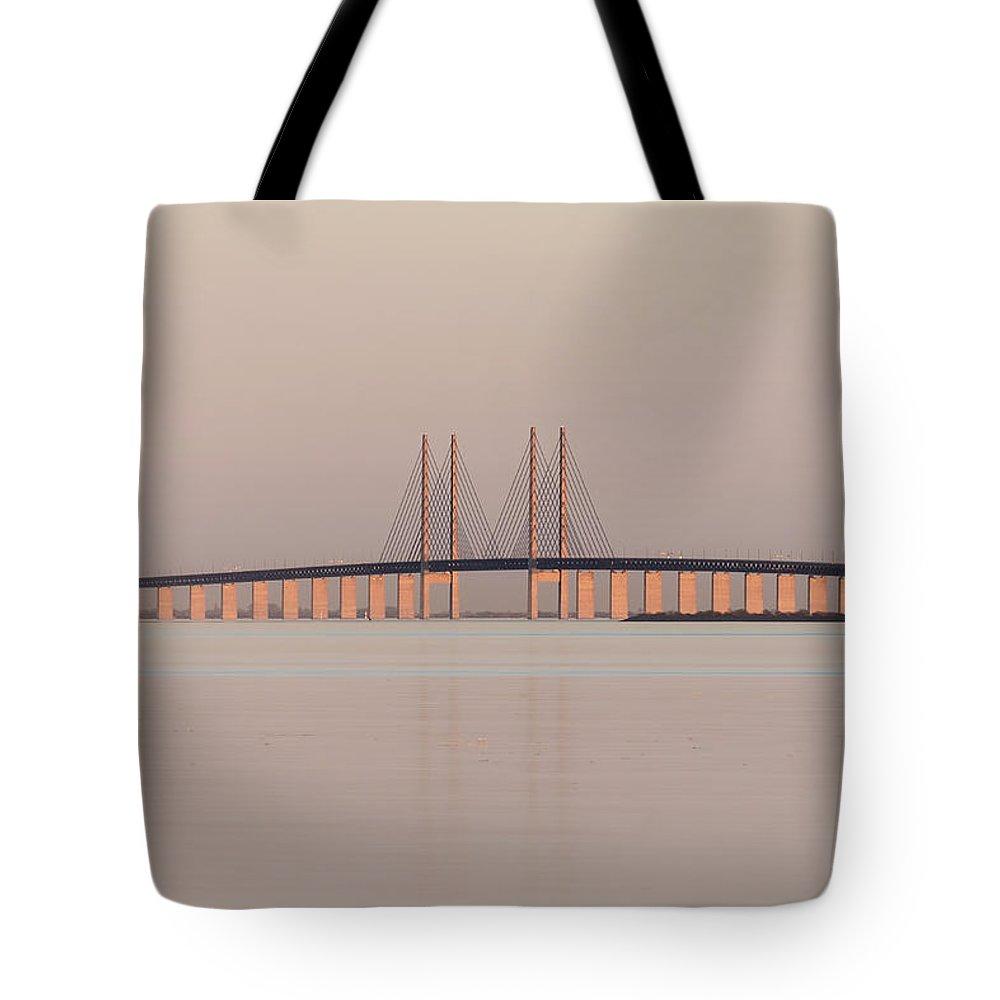 Oresund Tote Bag featuring the photograph Oresund Bridge by Joana Kruse